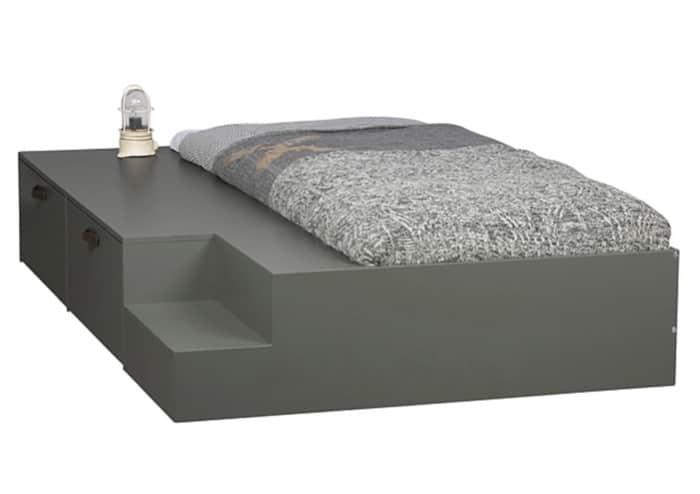 Stage seng med oppbevaring 80x200 cm
